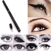 Long Lasting Waterproof Black Eyeliner Pencil with Sharpener Retractable Makeup Cosmetic Tool