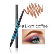 KISSBUTY 5 Colours Double Head Automatic Eyebrow Pencil with Eyeliner Waterproof Anti-sweat