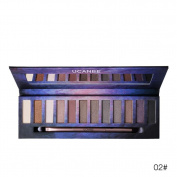 Quartly 12 Colours Cosmetic Powder Smoky Eyeshadow Palette Makeup Set Matt Available
