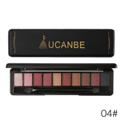 Quartly 10 Colours Cosmetic Powder Smoky Eyeshadow Palette Makeup Set Matt Available