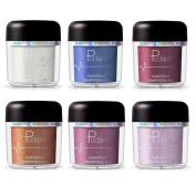 Spdoo 6 Colours Glitter Powder Shimmer Eyeshadow Loose Eyeshadow Pigments Mineral Eye Shadow Dust Powder Makeup Party