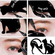 Baomabao 2Pcs Women Cat Line Pro Eye Makeup Tool Eyeliner Stencils Template Shaper Model