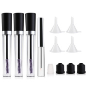 ETEREAUTY Empty Mascara Tubes and Empty Eyeliner Tube, with Rubber Inserts and Funnels, 4 Bottles Total