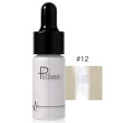 Women High Light Liquid, Lotus.flower 12 Colours Highlighter Make Up Concealer Shimmer Face Glow Cream