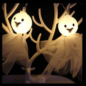 New Ghost String Lights 10 LEDs 1.5m Halloween MEIQING Ghost Skull Lights for Halloween Christmas Parties Home Decorations