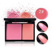KISSBUTY Waterproof 2 Colours Blusher Palette With Blush Brush
