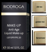Biodroga Anti-Age Liquid Makeup - spf 20 -30 ml - 01 silk tan. Special Ingredients Cause Lines and Wrinkles to Appear to Vanish