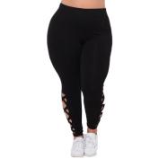 Hollow Out Sport Pants,Hemlock Women's Plus Size Elastic Legging Pants Trousers