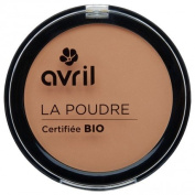 AVRIL - Compact Powder Abricot 477 - Does not Dry Skin - Certified Organic - Not Tested on Animals - 7g