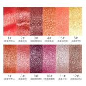 HML Organic Lipstick Set 12 Colours Waterproof Long-lasting Pearl Lipstick Beauty Lip Makeup 3.8g