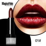 Women Long-wear Lip Makeup, Lotus.flower Charming Matte Lipstick Frosted Moisturising Lipstick Waterproof Lip Gloss Cosmetics