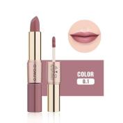 12 Colours Women 2 in 1 Velvet Matte Lipstick Lip Gloss Double-End Makeup by CSSD