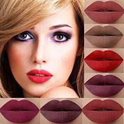 24 Colours Lip Gloss, Realdo Makeup Waterproof Matte Lip Gloss + Cleaning Gel