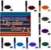 9 Colours Lip Gloss, Realdo Makeup Waterproof Matte Lip Gloss for Halloween
