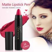 24 Colours Lip Pencil, Realdo Makeup Matte Long Lasting Waterproof Lip Pencil