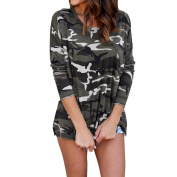 PPBUY Women Autumn Camouflage Casual Long Sleeve Top Blouse