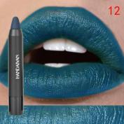 Lipstick ,Hunzed Matte Lipstick Beauty Waterproof Lip Gloss Long Lasting Moisturise Lasting Lip Gloss Makeup Tool