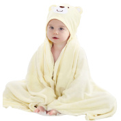 Luxury Hooded Baby Towel | Extra Large 120cm x 90cm Bamboo for Infant, Toddler, Newborn and Kids | Great for Boys and Girls at Bath, Pool and Beach . Organic Terry Cotton