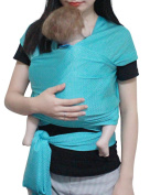 Vlokup Baby wrap Infant Carrier Water Sling Warm Weather Lightweight, Quick Dry Breathable Bluishgreen