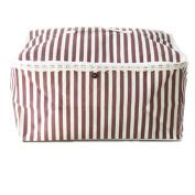 ShuZ Linen Clothes Storage Bag, Folding Organiser Bag for Comforters, Blanket, Clothes Storage. Waterproof, Dustproof, Moistureproof with Zipper and Handles