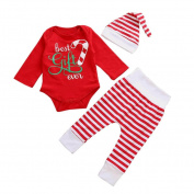 Keepfit Newborn Kids Outfits Clothes Baby Girl Boy Romper Tops+Long Pants+Hat Set for Christmas Thanksgiving and Halloween