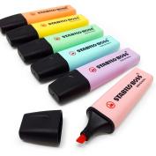 Stabilo Boss Original Pastel Highlighter Pens Highlighter Markers - Set of 6 - Full Range of Colours