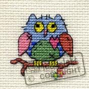 Mouseloft Mini Cross Stitch Kit - Patchwork Owl, Stitchlets Collection
