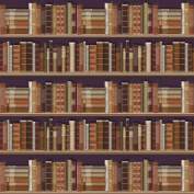 The Dolls House Emporium Traditional Bookcase Wallpaper 1:12 scale
