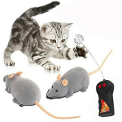 Cisixin Remote Control Electronic RC Wireless Rat Mouse Toy for Cat Dog Pet Novelty Gift