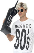 Inflatable Blow Up 1980s 1990s Large Mobile Phone Fancy Dress Costume Outfit Accessory Party Prop