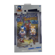"Sonic the Hedgehog T22055 ""25th Anniversary Classic Sonic and Tails"" Figures with Collectors Comic Book, 7.6cm"