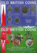 Great Britain coin packs with silver 3d piece, Farthing, 1d Penny, ½d Halfpenny, 3d, 6d, ½p Half Penny