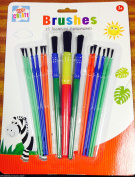 Childrens Kids 15 Paint Glue Brushes Set for Art Craft Painting Model Making