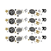 70th Birthday Table Confetti Gold Sparkle Triple Pack | Age 70 Party Supplies …