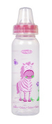 Evenflo Zoo Friends Bottle with Standard Nipple - 240ml - Pink