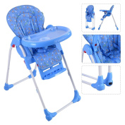 New MTN-G Adjustable Baby High Chair Infant Toddler Feeding Booster Seat Folding Blue