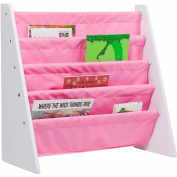 Levels of Discovery Sling Book Shelf, White with Pink
