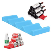 New Fridge Can Beer Wine Bottle Rack Organiser Holder Mat Stacking Tidy Placed Tool (Colour