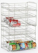 Atlantic Silver Steel 23235595 Double Canrack Organiser - Can Food Kitchen Rack
