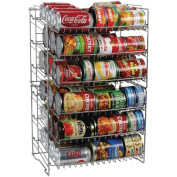 Atlantic Silver Steel Double Canrack Organiser, Can Food Kitchen Rack, 23235595