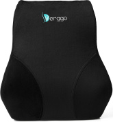 Verggo Lumbar Pillow - Premium Lower Back Support For Office Desk Chair Car Seat Couch and Sofa - Ergonomic Memory Foam Cushion Relieves Sciatica Pain - Computer Chairs & Reading In Bed Comfort Rest