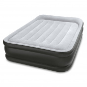 Intex Durabeam Deluxe Pillow Rest Inflatable Air Mattress Air Bed w/ Pump, Full