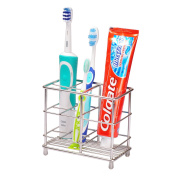 Ecrocy Stainless Steel Bathroom Toothbrush Toothpast Holder - Large Size