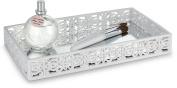 Dwellza Mirror Janette Vanity Mirror Tray for Dresser (28cm x 16cm x 4.1cm ) – Decorative Cosmetics Organiser- Durable Resin- Best Trays for Arranging Perfume Jewellery Makeup