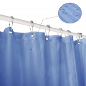 Subrtex Bathroom Waterproof Polyester Stripe Shower Curtain Liner