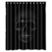 Personalised Cool And Horror Design Dark Skull 100% Polyester Waterproof Fabric Shower Curtain 150cm x 180cm Inches Shower Rings Included