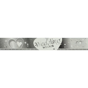 Creative Party 2.74 Metre Wedding Wishes Foil Banner (One Size)