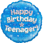 Oaktree 46cm Circle Happy Birthday Teenager Foil Balloon (46cm )
