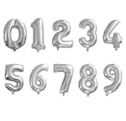 46cm Gold Numbers 0-9 Foil Digital Silver Balloons Birthday Holidays Wedding Party Supply