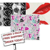 Be My Valentine Hydro 3 pack - XOXO - Red Lips - $100 Roses - Hydrographics Film - Hydro Dip Film - Hydrographic Film - Water Transfer Printing - Hydro Dipping
